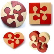 Головоломка-неразберишка квадрат, клевер, шайба,цветок
